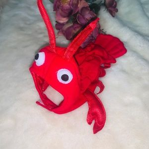 Red Lobster Halloween Costume for Dog or Cat XS